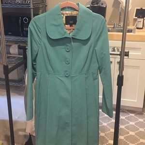 Mossimo rain trench coat teal size small